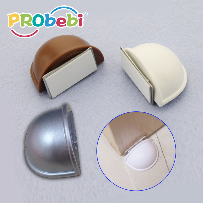 self-adhesive magnetic door stopper