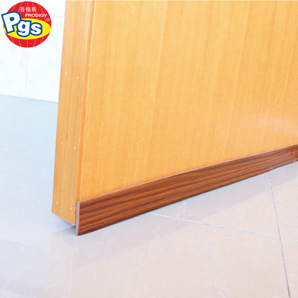 Wood color Strong Under Door Foam Sweep Weather Stripping Door Bottom Seal Strip