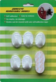 removable tape hooks