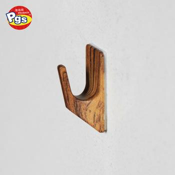 Adhesive wood printing hook