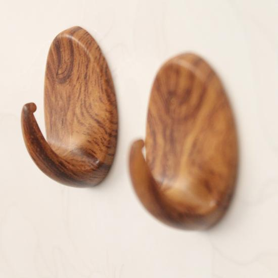wooden towel hook
