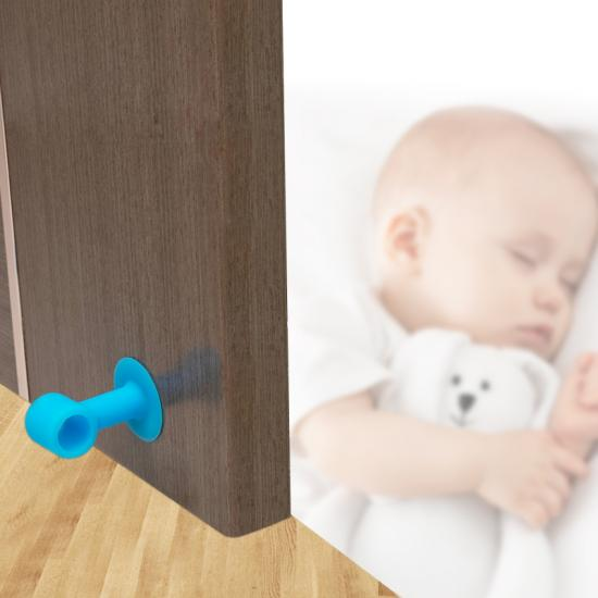 suction cup soft ABS durable door knob wall protector